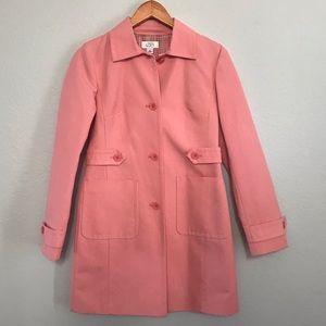 Ann Taylor Loft trench coat pink XS